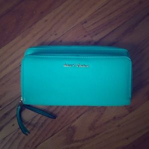 Juicy couture large teal wallet